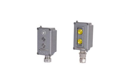 Посты взрывозащищенные кнопочные ВЭЛАН ПВК-ПК из алюминия или пластика с пьезокнопками - КонтактЭнерго